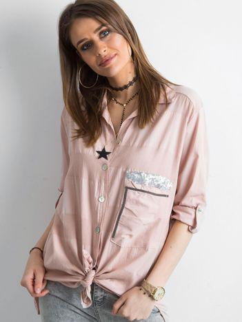 SCANDEZZA Różowa koszula damska