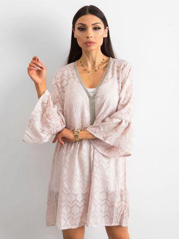 SCANDEZZA Różowa zwiewna sukienka