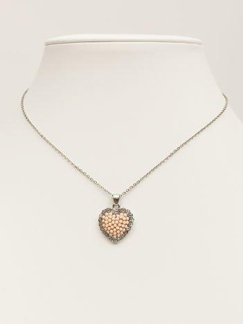 SCANDEZZA Srebrny naszyjnik z zawieszką w postaci serca