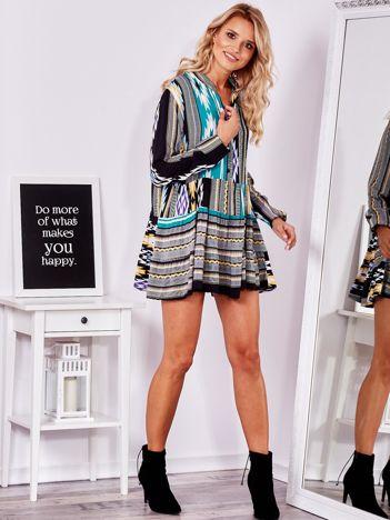 SCANDEZZA Sukienka w kolorowe desenie