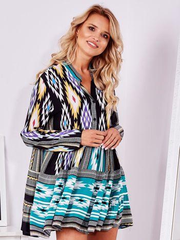 SCANDEZZA Sukienka w kolorowe wzory