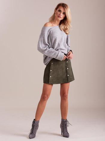SCANDEZZA Szary dzianinowy sweter