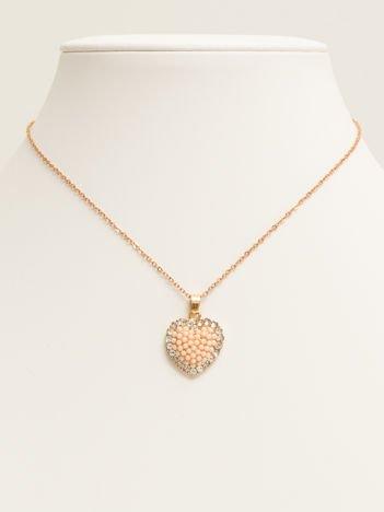 SCANDEZZA Złoty naszyjnik z zawieszką w postaci serca