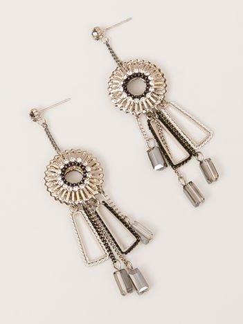 SCANDEZZA srebrne wiszące kolczyki damskie
