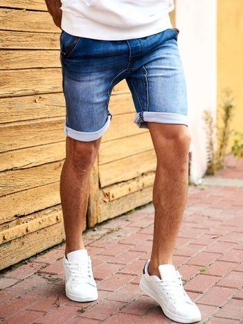 SCOTFREE Niebieskie jeansowe szorty męskie