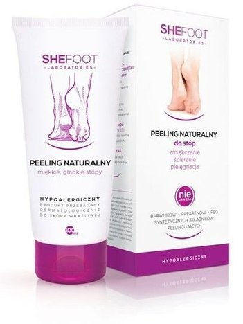 SHEFOOT Peeling naturalny do stóp 100ml (Natural Foot Scrub)