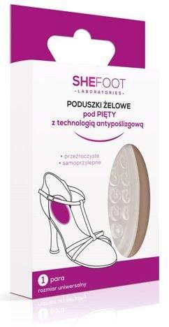 SHEFOOT Żelowe wkładki do butów pod pięty 1 para (Transparent gel heel cushions)