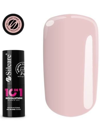 SILCARE 10in1 Revolution Airless Baza budująca + Top + Lakier Light Pink 15 g