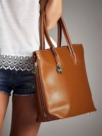 STELLA DUTTI Brązowa torba shopper bag