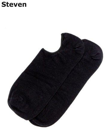 STEVEN Czarne gładkie męskie stopki