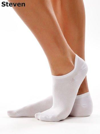 STEVEN Gładkie białe niskie stopki