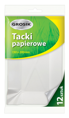 Sarantis Jan Niezbędny Grosik Tacki papierowe 130x200mm 12 szt.
