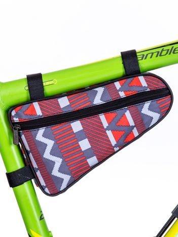 Saszetka rowerowa szara we wzory