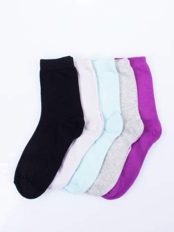 Skarpetki damskie kolorowe mix 5 par