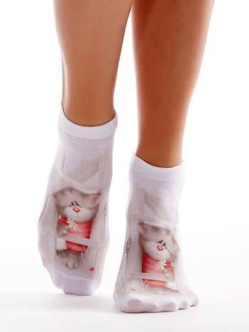 Skarpetki damskie stopki z kotkiem