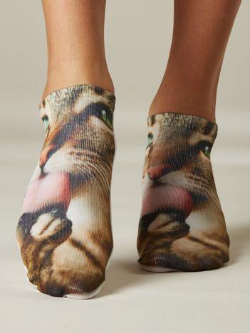 Skarpety damskie z kotem