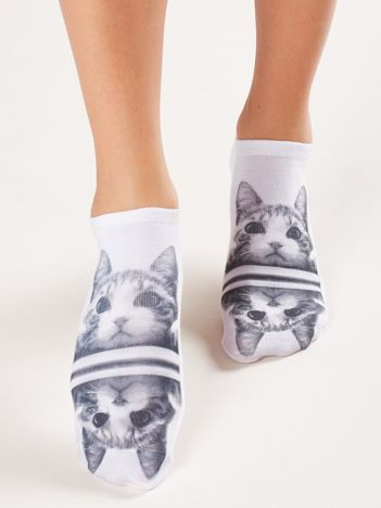 Skarpety stopki damskie z printem