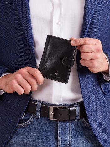 Skórzany czarny portfel dla mężczyzny