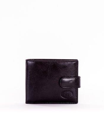 Skórzany mały portfel męski zapinany na napę