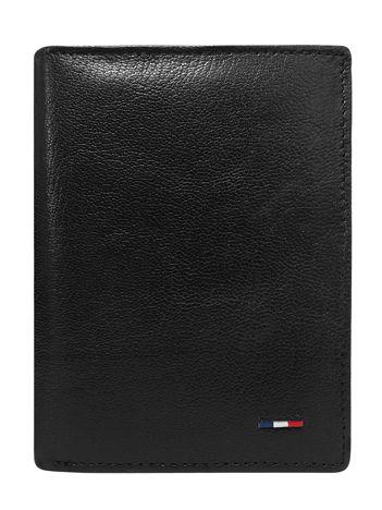 Skórzany portfel dla mężczyzny bez zapięcia czarny
