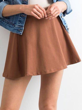 Spódnica rozkloszowana brązowa