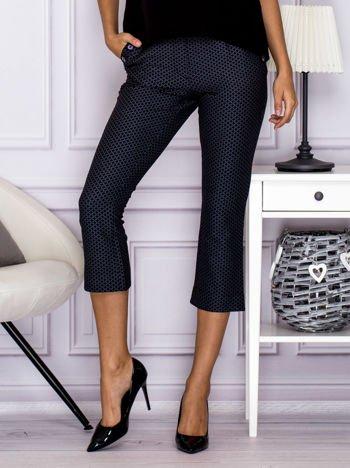 Spodnie 7/8 w drobny wzór szare