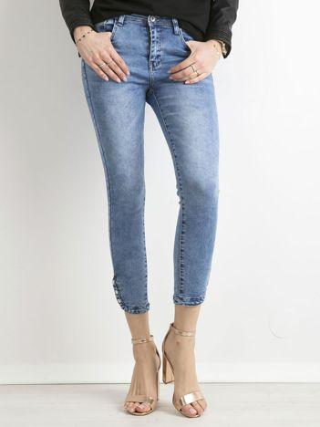 Spodnie ankle jeans niebieskie