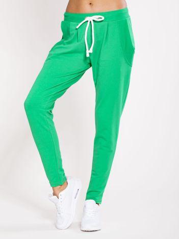 Spodnie dresowe bawełniane zielone