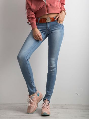 Spodnie jeansowe damskie skinny niebieskie