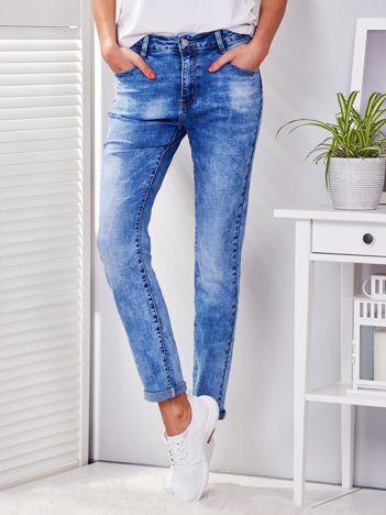 Spodnie jeansowe niebieskie regular PLUS SIZE