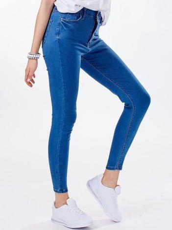 Spodnie jeansowe niebieskie z wysokim stanem