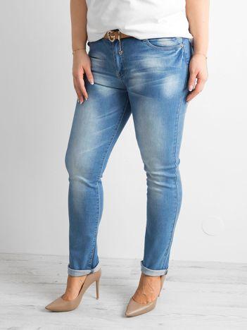 Spodnie jeansowe plus size niebieskie