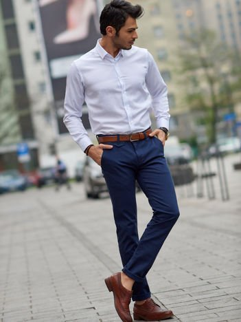 Spodnie męskie morskie chino