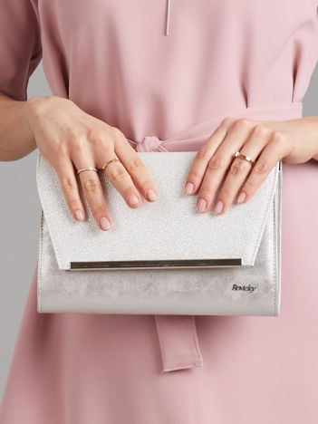 Srebrna damska torebka kopertówka