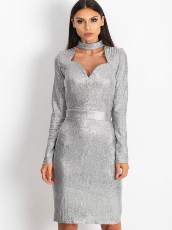 Srebrna sukienka Sparkle