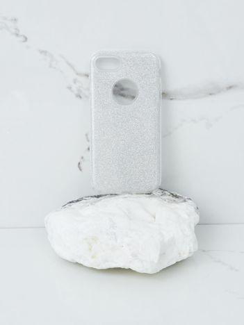 Srebrne etui brokatowe do iPhone 7G/8G