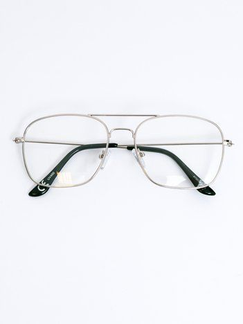 Srebrne okulary zerówki
