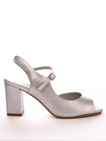 Srebrne sandały SERGIO LEONE na słupkach