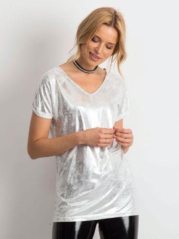 Srebrny t-shirt Sparkling