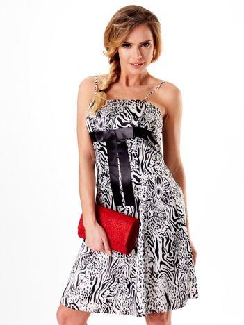 Sukienka czarna w zebrę