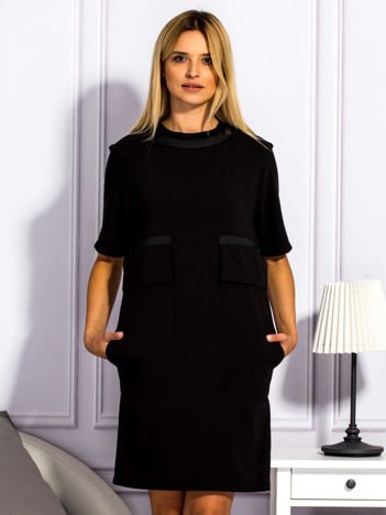 Sukienka damska z kieszeniami czarna