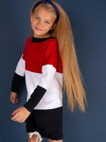 Sukienka dziewczęca tricolor