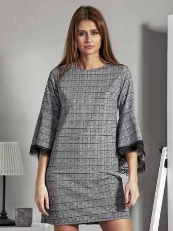 c0f1075d95 Sukienka w geometryczne wzory maxi - Sukienka z printem - sklep ...