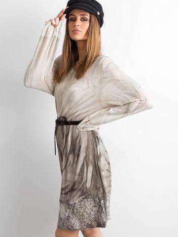 Sukienka z cekinami beżowa