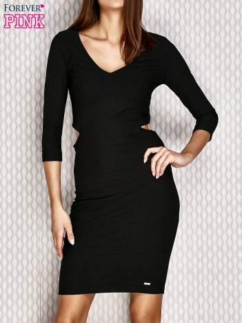 Sukienka z wycięciami czarna