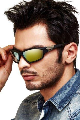 "Sur Pass Sportowe okulary męskie ""soft touch"""