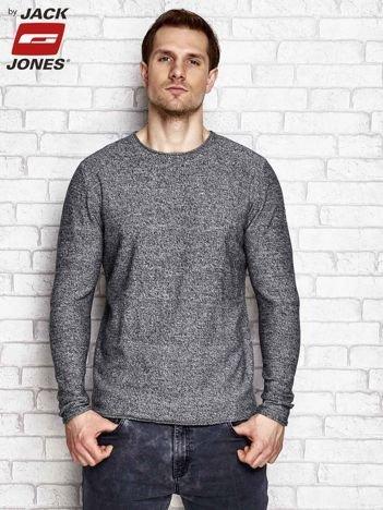 Sweter męski melanżowy ciemnoszary