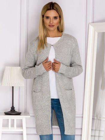 Sweter z wiązaniem z tyłu jasnoszary