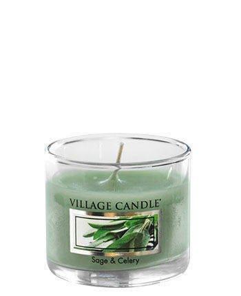 Świeca zapachowa Village Candle Mini Glass 29gr - Sage&Celery