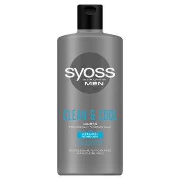 """Syoss Men Clean & Cool Szampon odświeżający - włosy normalne i przetłuszczające 440ml"""""""